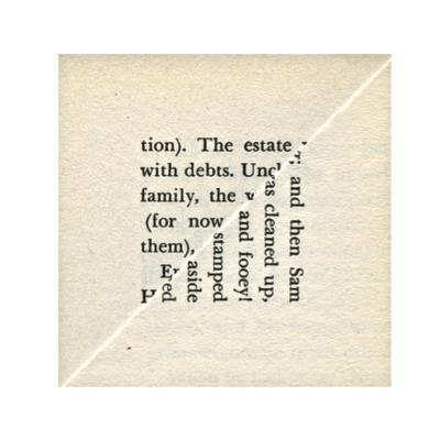 Buchseite Quadrat
